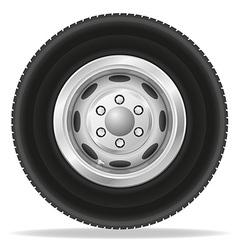 wheel for truck vector image vector image