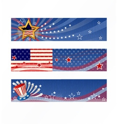 4th of july banners set vector image