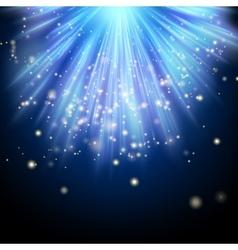 Blue luminous rays EPS 10 vector image vector image
