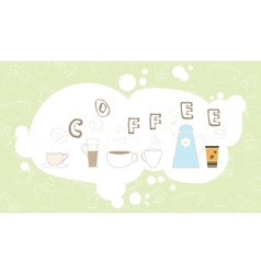 Coffee pattern drink breakfast kitchen cup bubble vector image vector image