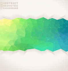Geometric square background vector image vector image