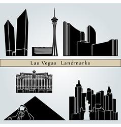 Las vegas landmarks and monuments vector