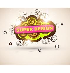 Super Floral Grunge Design vector image vector image