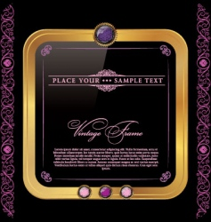 vintage golden and pink frame vector image vector image