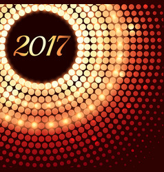 abstract shiny 2017 background with dot effects vector image vector image