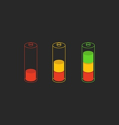 Battery level charge indicator icon vector image