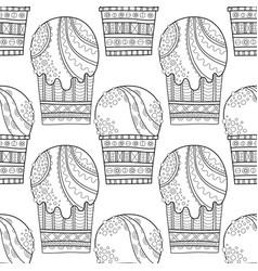 ice cream dessert black and white vector image vector image