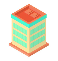 isometric office building vector image