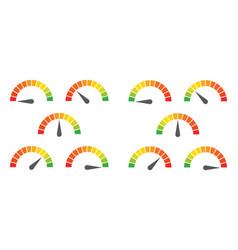 meter signs infographic gauge element vector image
