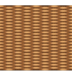 Seamless texture of wicker baskets for your design vector image vector image