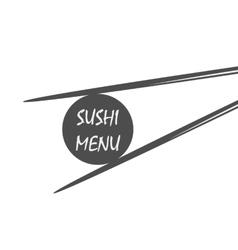 sushi menu vintage style vector image