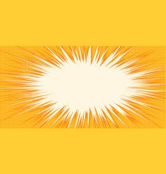 white burst orange background pop art vector image