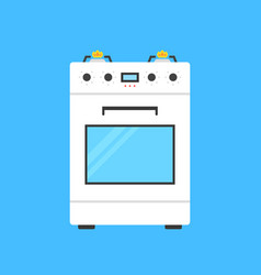 white gas stove icon vector image vector image