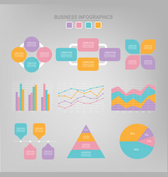 infographic set flat design of business icon vector image vector image