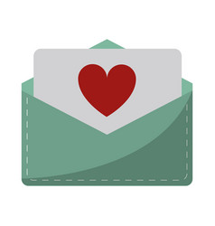 love heart envelope mail valentine lette vector image