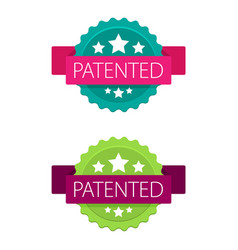 patented stamp label vector image