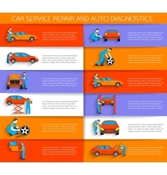 Set of auto mechanic car service repair and vector
