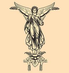 vintage of angel vector image
