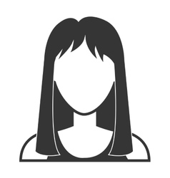 Young woman profile in black and white vector image