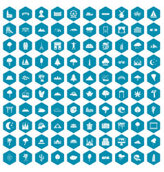 100 view icons sapphirine violet vector image