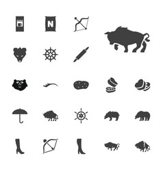 22 brown icons vector