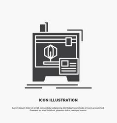 3d dimensional machine printer printing icon vector