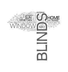 A glimpse on window blinds text word cloud concept vector