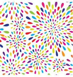 Abstract splash drop pattern firework spot vector