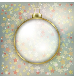 Abstract stars background with Christmas vector image