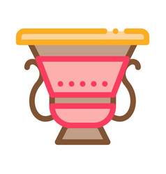 Ancient greek feast bowl icon outline vector