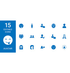Avatar icons vector