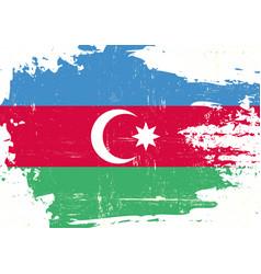 Azerbaijan scratched flag vector