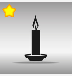 black candle icon button logo symbol concept vector image