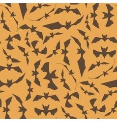 Brown Cartoon Bat Seamless Pattern vector