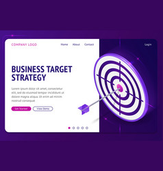 business target strategy isometric landing page vector image
