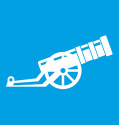 Cannon icon white vector