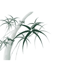 Chinese bamboo painting background vector