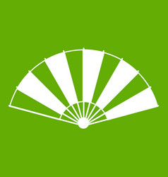 chinese fan icon green vector image