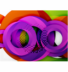 circle background design vector image