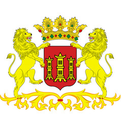 Coat of arms of lingen in lower saxony germany vector