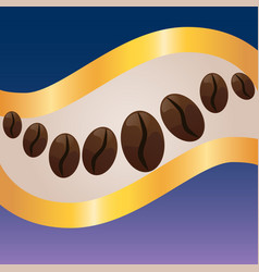 coffee label concept vector image