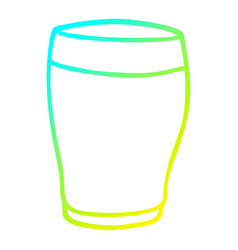 Cold gradient line drawing cartoon pint stout vector