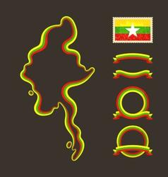 Colors myanmar burma vector