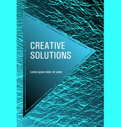 Cover with headline sample text vector