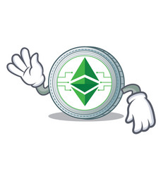 Crazy ethereum classic character cartoon vector