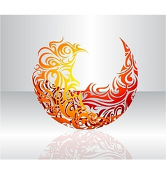 Decorative fire flame vector image