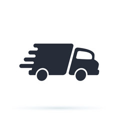 delivery truck icon design logo template vector image
