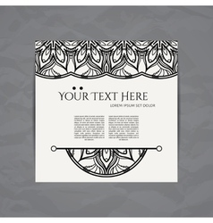 design template Business card with floral vector image