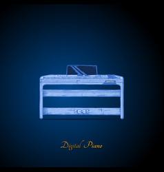 digital piano vector image