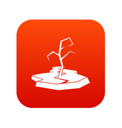 Drought icon digital red vector